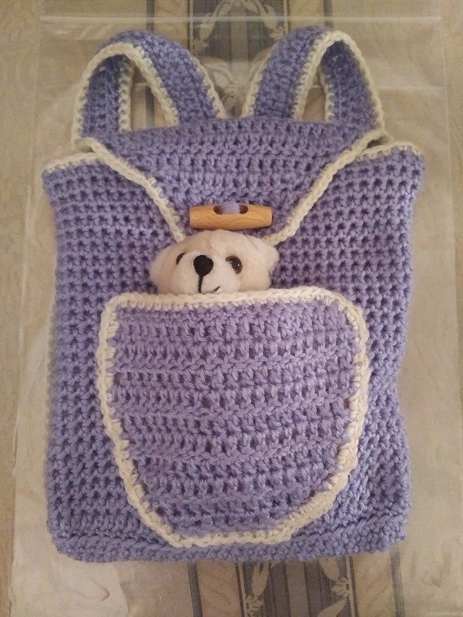 lilac-back-pack-teddy-inside