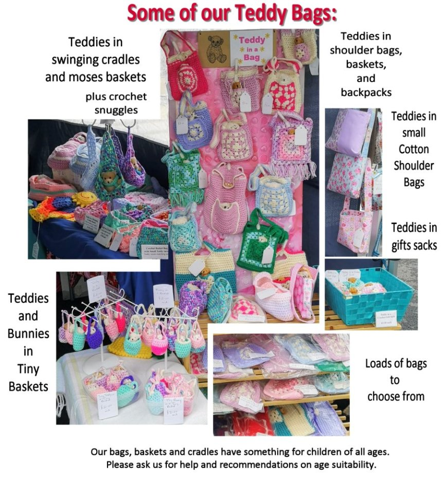 Some ofd our Teddy Bags in Pictures