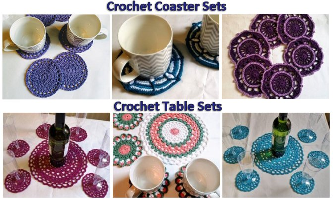 Crochet Coasters and Table Sets
