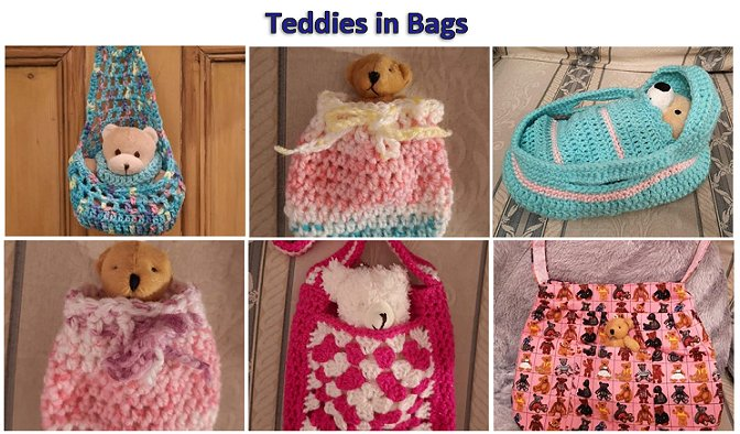 Some of the Teddy Bags In Our Etsy Store