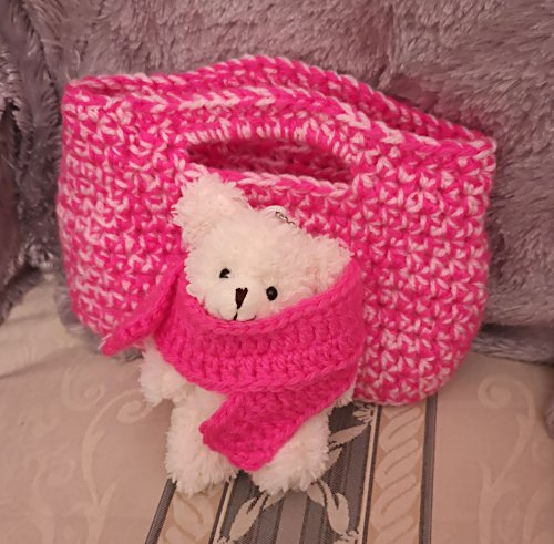 teddy-and-scarf-with-dark-pink-basket-1