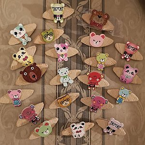 Teddy Brooches